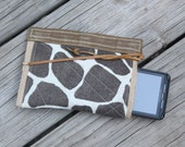 waxed canvas  iphone/droid cell phone clutch/case