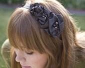 Brown flower headband, headbands for women