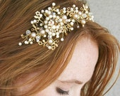 Wedding Tiara Headband Vintage Dream Golden Tiara Bridal Hair Wedding Accessory