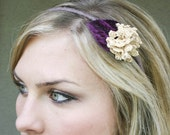 headband with a vintage lace flower, adult headbands