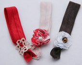 elastic hair tie set with lace and flowers