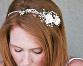 vintage rose and rhinestone wedding tiara, wedding hair acessories