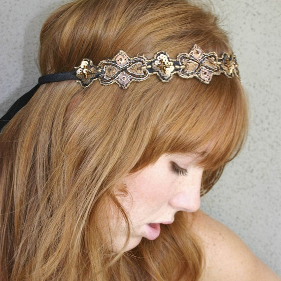 Hippie Chic Bohemian Tie Headband for Women and Teens, Woman Hair Accessory