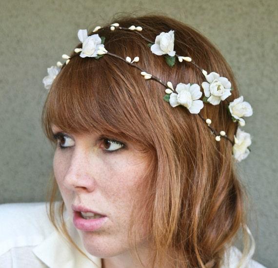 Custom for  Stefanie woodland wedding wreath in ivory