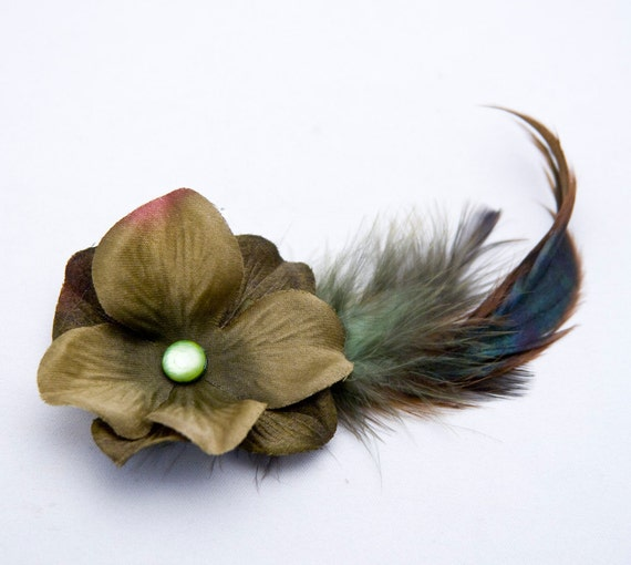 Little flower and feather comb, single