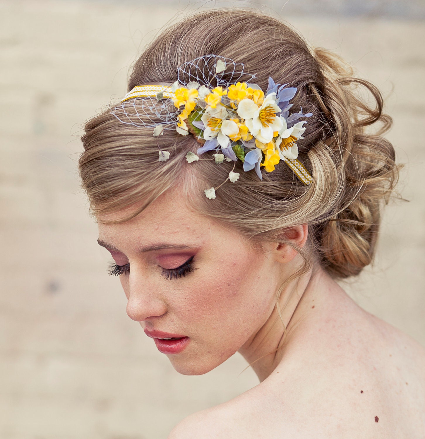 Spring flowers headband headbands for women and weddings