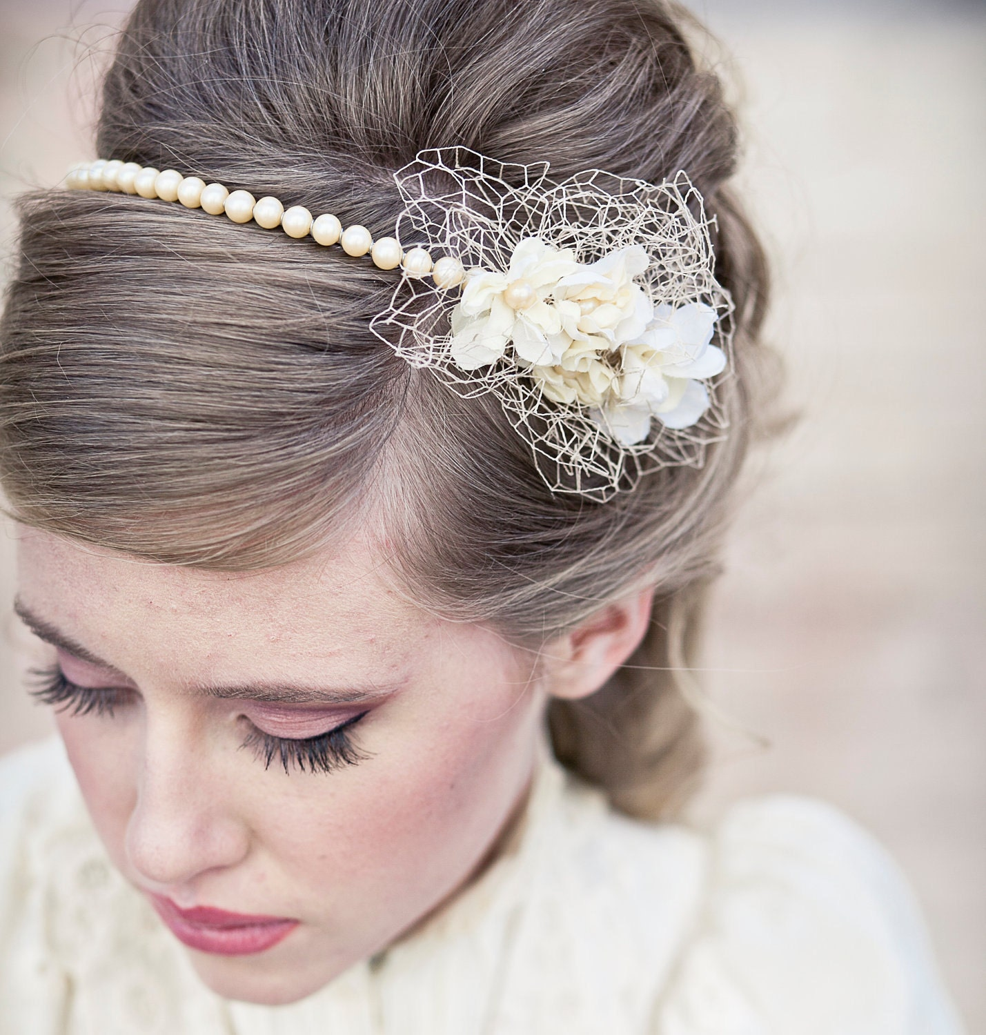 Vintage Wedding Headpieces: Wedding Hair Vintage Romance Pearl Headband Or Wedding Tiara