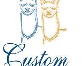 CUSTOM ORDER 3 SKEINS  for Broosterrooster Derby Grey - Alpaca / Rambouillet Yarn