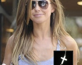 Audrina Patridge Cross Necklace in Sterling Silver - Extra Long 36 inches