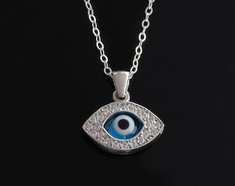 Evil Eye Necklace - Vanessa Hudgens Style in Sterling Silver