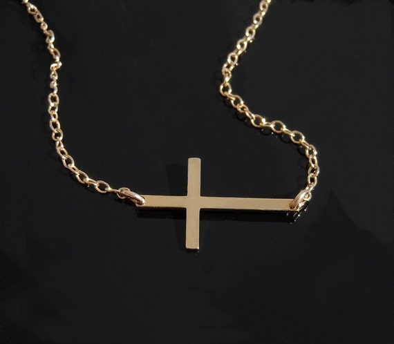 Kelly Ripa Cross Necklace in 14kt Gold Filled