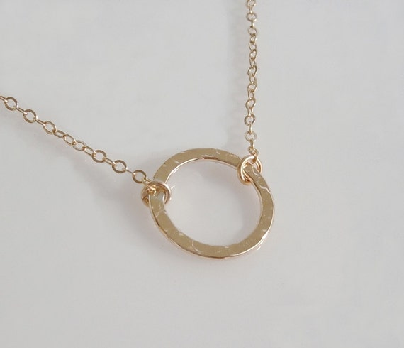 Karma Circle Necklace in 14kt Gold Filled