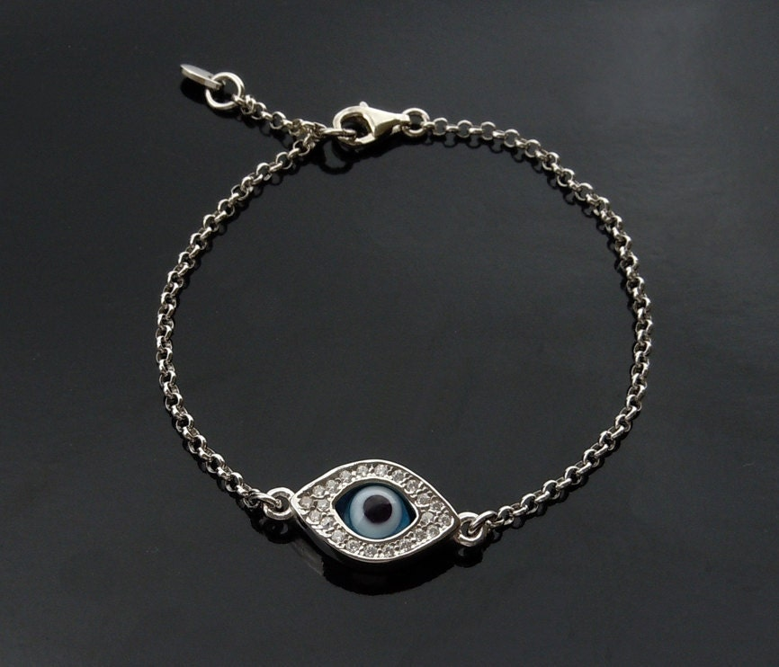 Kelly Ripa Evil Eye Bracelet In Sterling Silver Kim By Luluka