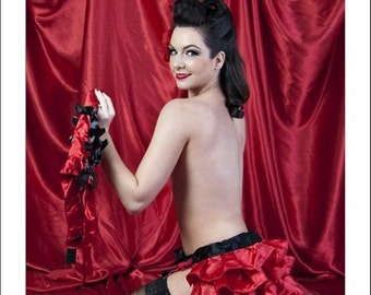 CLEARANCE Black and Red Valentina Small ready to ship