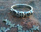 Ring of Faith Sterling Silver Southwestern Native Style Hand Forge Ring R25