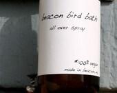 Beacon Bird Bath /JASMINE WINTER/ Essential oil body/room spray/vegan