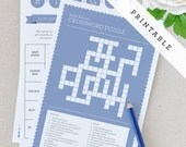 Printable Baby Shower Games - Blue