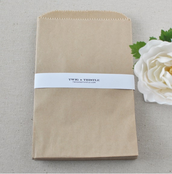 5x7 Craft Paper Bags - Set of 25