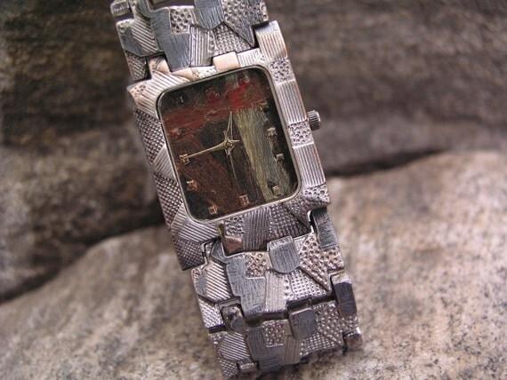 Multicolor Dial Handmade Watch Wristwatch