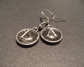 Private Listing for alisonsmagick4 A to Z earrings with letter L and A  charms