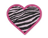 ZEBRA Heart Filled 4x4 5x7  Machine Embroidery Design  INSTANT Download