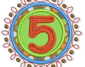 Doodle NUMBERS Applique SET  4x4 5x7 6x10 Machine Embroidery Design  INSTANT Download