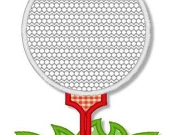 GOLF Ball on Tee Applique 4x4 5x7 Machine Embroidery Design  INSTANT Download