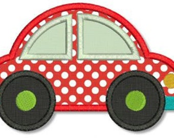 CAR Applique 4x4 5x7 6x10  Machine Embroidery Design boy girl baby toddler  INSTANT Download