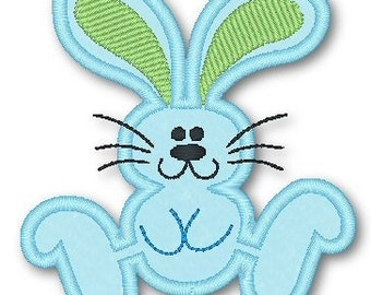 Hopping Bunny  4x4 5x7 Applique Machine Embroidery Design