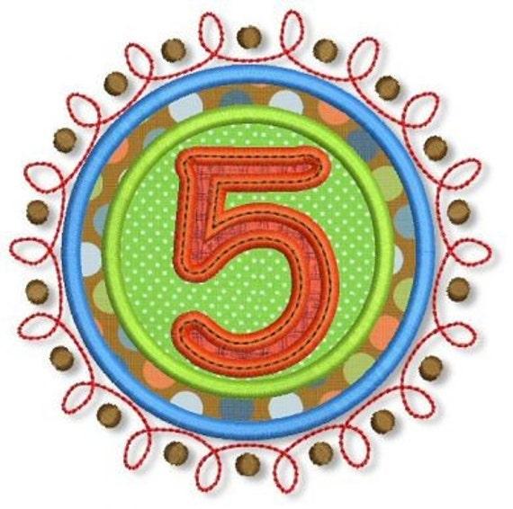 Doodle NUMBERS Applique SET  4x4 5x7 6x10 Machine Embroidery Design  INSTANT Download