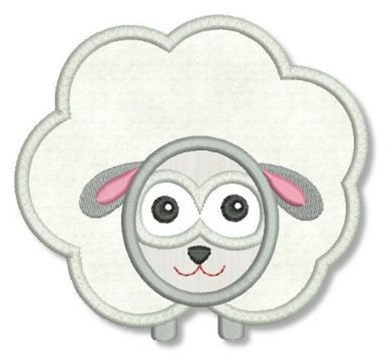SHEEP Applique 4x4 5x7 Machine Embroidery Design easter baby boy girl lamb  INSTANT Download