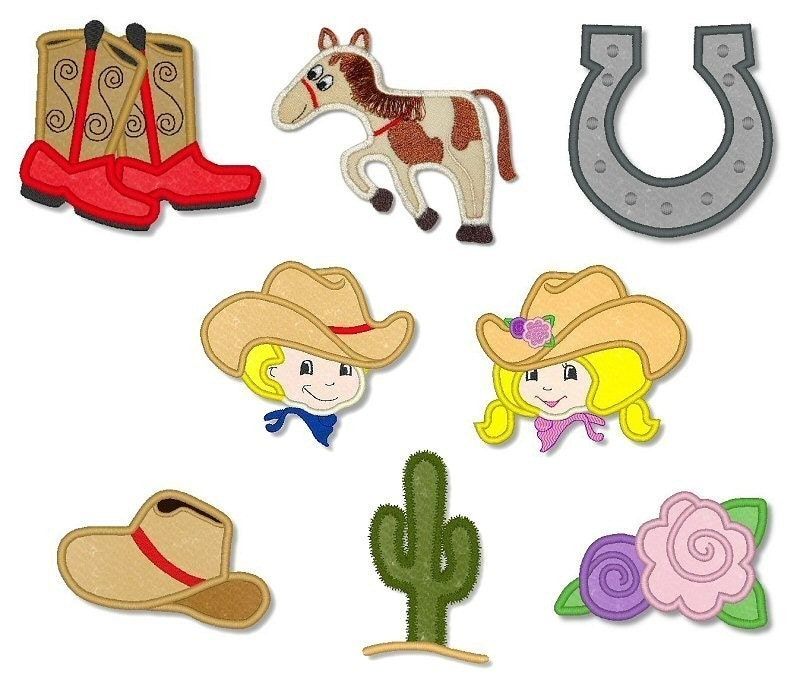 Cowpoke Cuties Embroidery Design