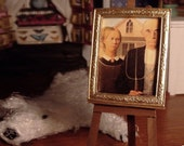 Miniature Framed American Gothic