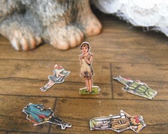 Miniature Victorian Paper Doll
