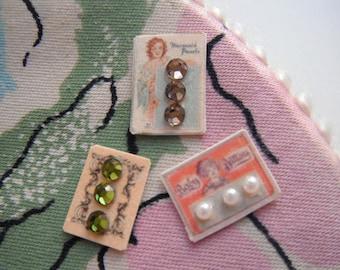 Miniature Vintage Button Cards