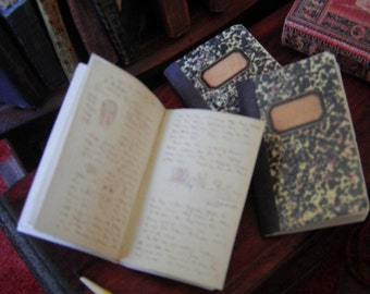 Miniature Vintage Composition Books
