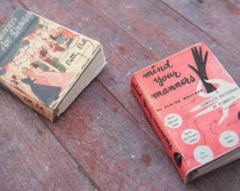 Miniature Etiquette Books