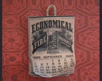 Miniature 1926 Wall Calendar