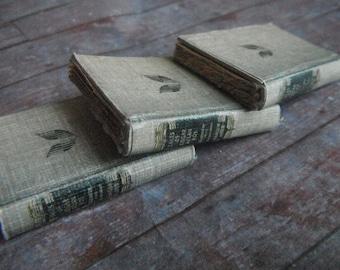 Miniature Three Volume Edgar Allen Poe Book Set