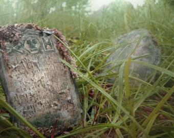 Handpainted Miniature Tombstone