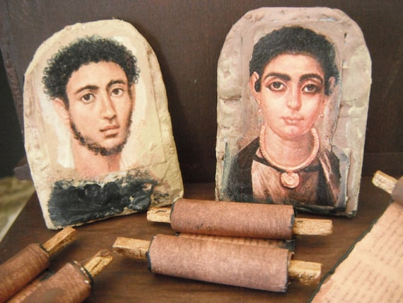 Miniature Roman Egyptian Mummy Portraits