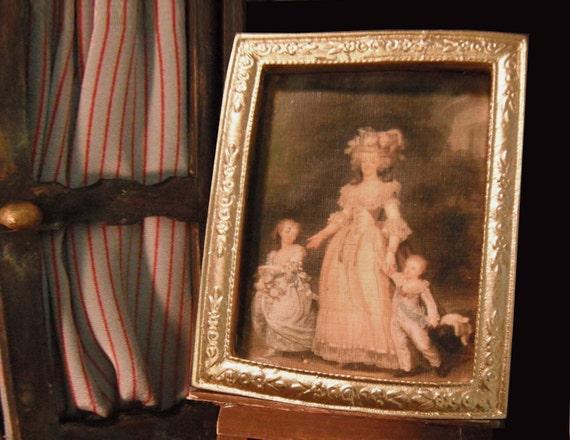 Miniature Framed Marie Antoinette Family Portrait
