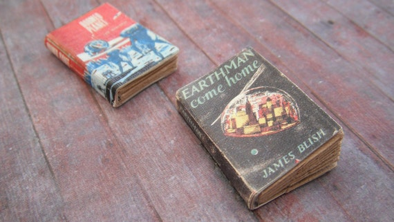 Miniature Science Fiction Books