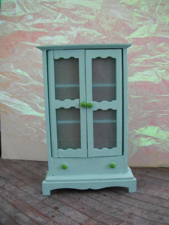 Miniature Ruby Blue Cabinet