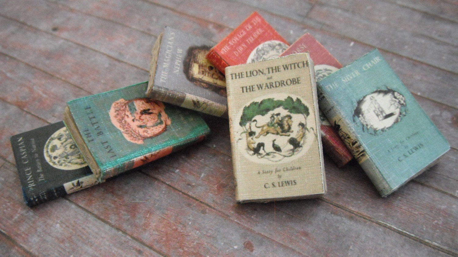 Miniature Chronicles Of Narnia Book Set By Ldelaney On Etsy
