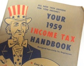 Vintage 1959 Income Tax Booklet - United States - Uncle Sam