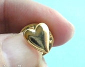 Vintage Heart Tie Tack - Lapel or Hat Pin - Gold tone