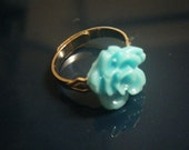 SIX COLORS AVAILABLE Adjustable Rose Cabochon Ring