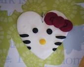 I Heart Hello Kitty - heart shaped hello kitty pendant