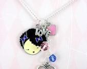 Harajuku girl Crystal Charm Necklace